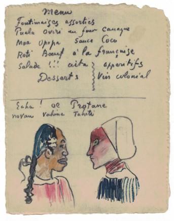 Paul Gauguin, Vahine Tahiti - Protane (Menu), c. 1899-1901