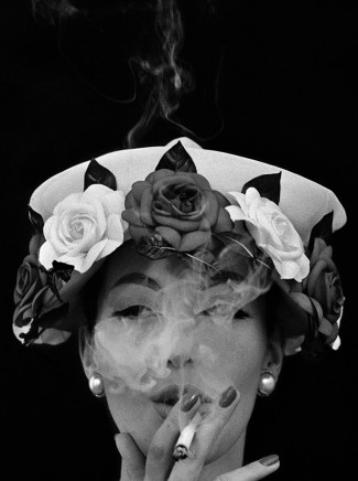 William Klein, Hat + Five Roses, Paris (Vogue), 1956