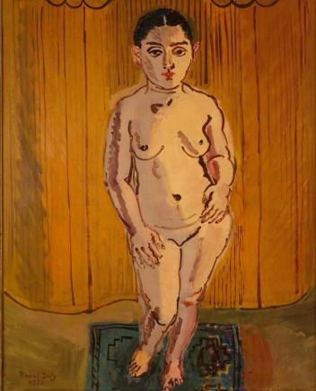 Raoul Dufy, Nu sur fond jaune (La Javannaise), 1930