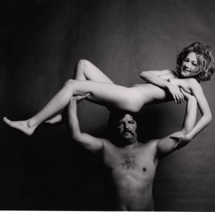 Guy Bourdin, Nude on Strongman, before 1972