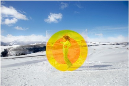 Tierney Gearon, Untitled (Snow Circle Girl) from the COLORSHAPE Series, 2013