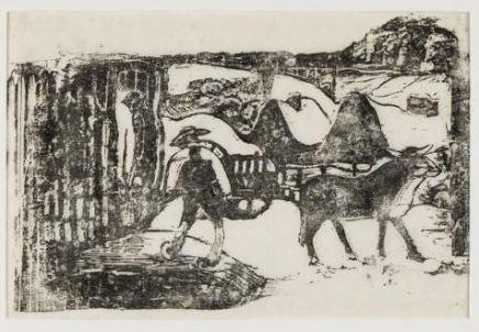 Paul Gauguin, LE CHAR A BOEUFS - SOUVENIR DE BRETAGNE, 1898