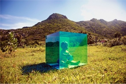 Tierney Gearon, Untitled (Baby in Box, St. Barts) from the COLORSHAPE Seri, 2013