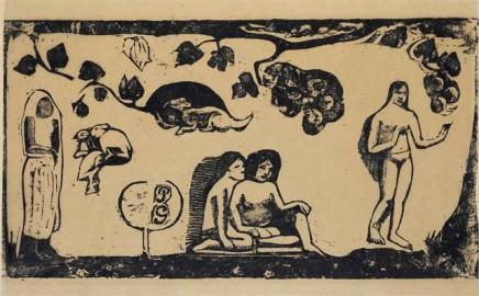 Paul Gauguin, Femme Animaux et Feuillages, 1898