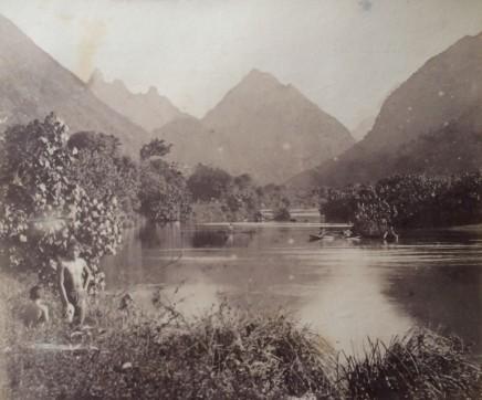 Charles Georges Spitz, Tahiti. Riviere de Tautira, 1888