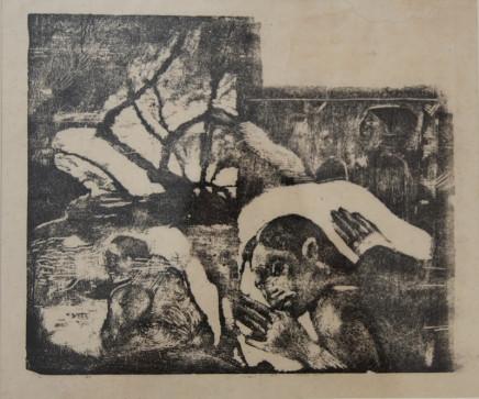 Paul Gauguin, Manao Tupapao / Femme maorie dans un paysage de branches, 1894-95
