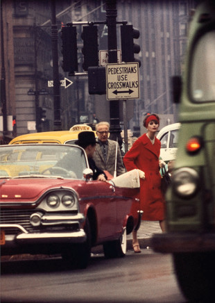 William Klein, Anne St. Marie + Cruiser, New York (Vogue), 1958