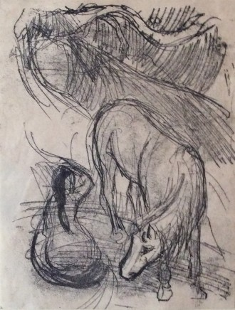 Paul Gauguin, Studies of a Horse and Kneeling Woman, 1901-02