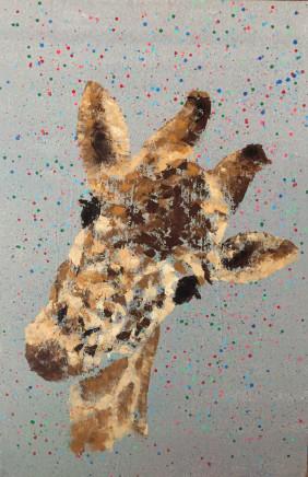 Humphrey Dettmer, Baby Giraffe Face, 2017