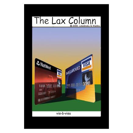 Sylvia Libedinsky, The Lax Column - vis-à-vis