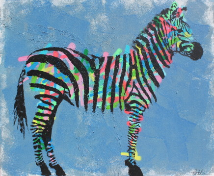 Humphrey Dettmer, Blue Zebra, 2017