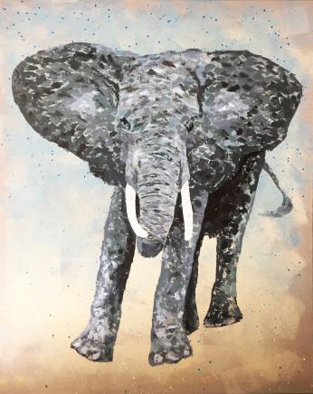 Humphrey Dettmer, Charging Elephant, 2017