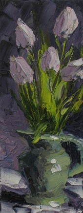 Colin Halliday, Tulips in a Jug, 2014-15