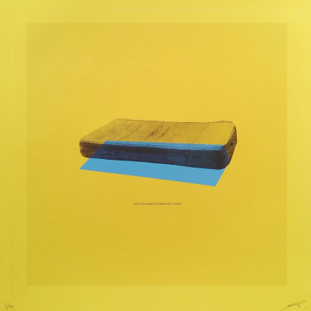 Paul Wardski, Here the Panelled Background is Yellow, 2018