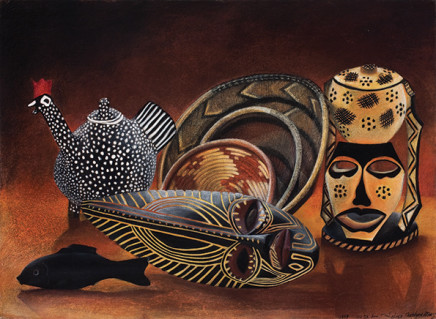Claudine Roux, African Masks, 1988