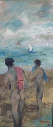 Yankel Feather, Bathers at Hayk