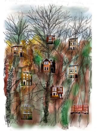 Randy Klein, Inner Cities - Houses, 2014