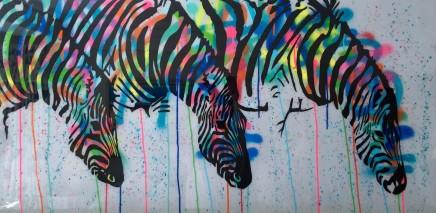 Humphrey Dettmer, Thirsty Zebras, 2016