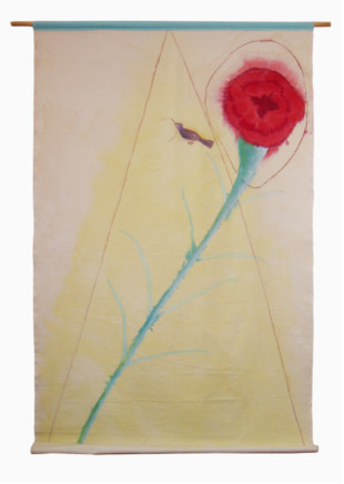 Roberta Kravitz, Red Flower with Bird
