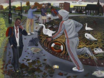 Ed Gray, Running Man, Burgess park, Peckham, 2005