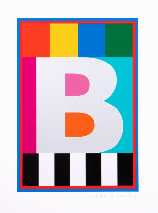 Sir Peter Blake, The Dazzle Alphabet Letter B, 2017