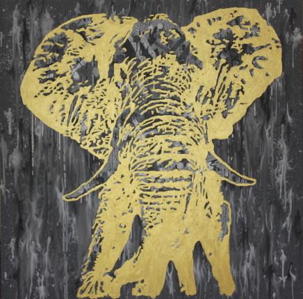 Humphrey Dettmer, Gold Elephant, 2017