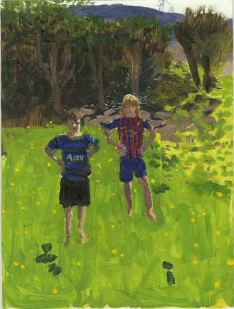Danny Markey, Tom and Joe in Derrick's Garden