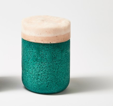 Joshua Kerley, Composite Lidded Jar - Teal with Coral Lid, 2019