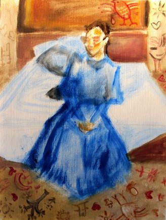 Anna Kazan, Blue Sitting Study, 2018