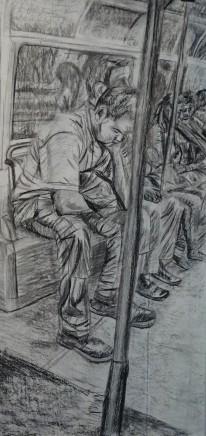 Georgina Lowbridge - Slade School of Fine Art, UCL, The Thinker on the Tube , 2015