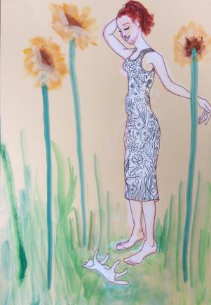 Anna Kazan, Sunflowers, 2016