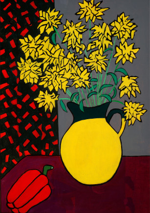 Zoë Callaghan, Still Life with Yellow Flowers, 1990