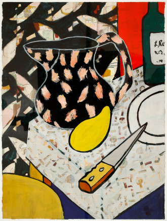 Zoë Callaghan, Still Life with Jug & Mango, 1990