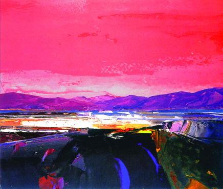 Donald Hamilton Fraser, Kinlochbervie Red Sky, 2007