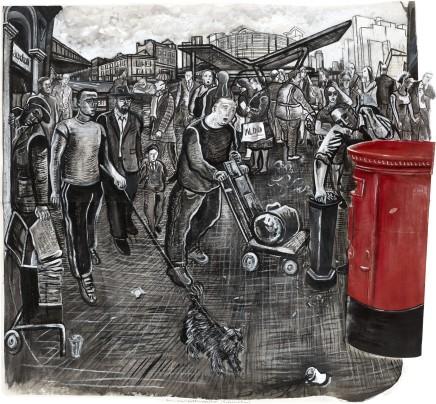 Ed Gray, Vauxhall Bridgefoot (Monochrome), 2011-12