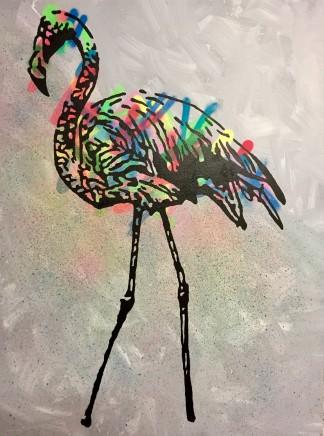 Humphrey Dettmer, Lone Flamingo, 2017