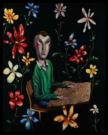 Carlos Cortes, Blind Reader (Triptych), 2014-2015