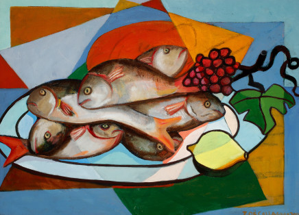 Zoë Callaghan, Still Life with Fish, 2001