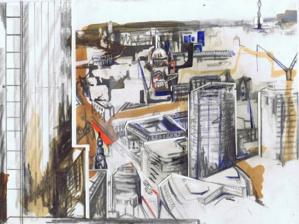 Lily Forwood, View From The Gherkin, Sketch