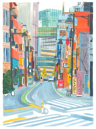 Grace Helmer, Japanese Street, 2017