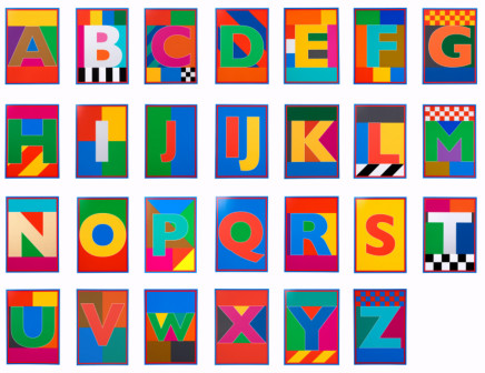 Sir Peter Blake, The Dazzle Alphabet Letter Set, 2017