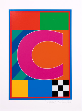 Sir Peter Blake, The Dazzle Alphabet Letter C, 2017