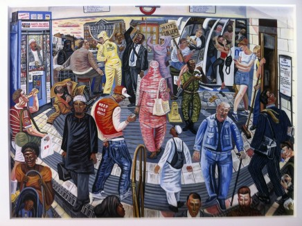 Ed Gray, Adoration at the East 'Mile End Tube Station', 2014