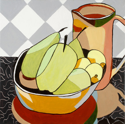 Zoë Callaghan, Still Life with Pears & Lemons, 2018