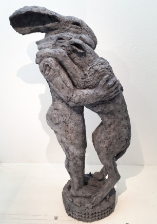 Sophie Ryder, Lady Hare Holding Dog III, maquette, 2016