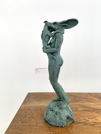 Sophie Ryder, Standing Hare with Dog , 2015