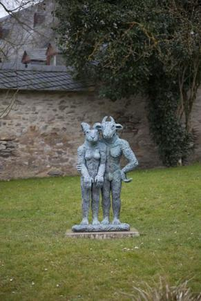 Sophie Ryder, Standing Minotaur and Lady Hare, 2001