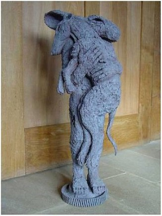 Sophie Ryder, Lady Hare with Dog II, 2001