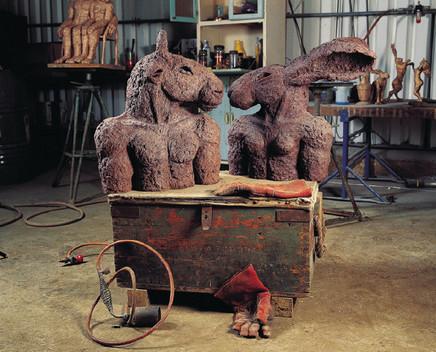 Sophie Ryder, Minotaur and Lady Hare Torsos, 2000