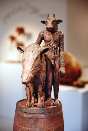 Minotaur and Boar on a Barrel Maquette, 2017